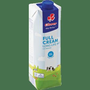 Clover Full Cream Long Life Milk (6 x 1litre)