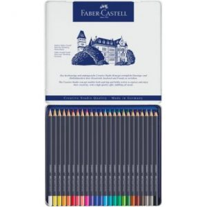 Faber Castell Goldfaber Colour Pencil – Tin Of 24