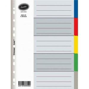 Bantex A4 PP 5-Tab Index Dividers – Not Printed