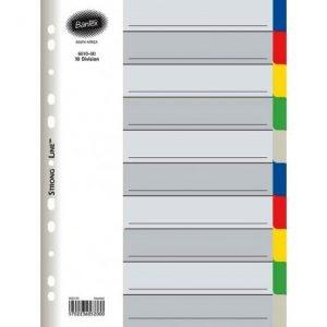 Bantex A4 PP 10-Tab Index Dividers – Not Printed