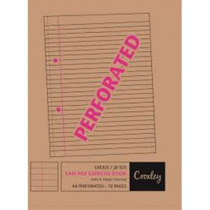 CROXLEY A4 Easi-File A4 72 Page Punched And Perforated