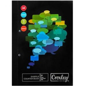 CROXLEY A4 Counter Book JD158 192 Pg Easi-File
