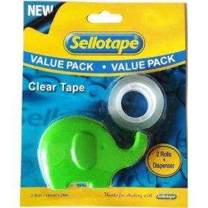 Sellotape X 2 Tape + Elephant Dispenser