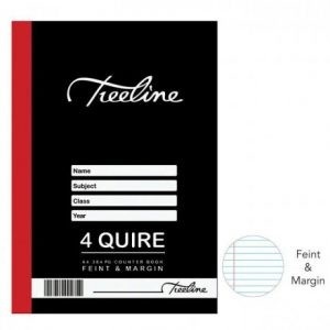 TREELINE A4 Counter Book 4 Quire Feint And Margin – 384 Pages