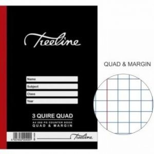 TREELINE A4 Counter Book 3 Quire Quad And Margin – 288 Pages