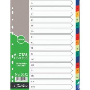 Treeline A4 Divider PVC (16 Part) A To Z