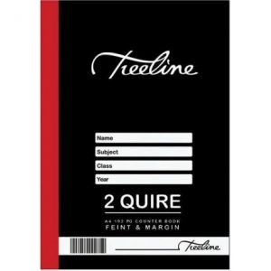 TREELINE A4 Counter Book 2 Quire Feint And Margin 192 Pages