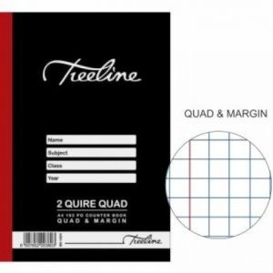 TREELINE A4 Counter Book 2 Quire Quad And Margin 192 Pages
