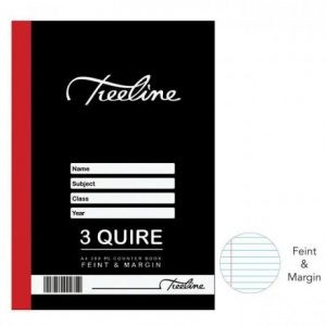 TREELINE A4 Counter Book 3 Quire Feint And Margin – 288 Pages