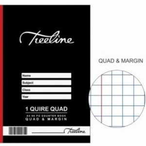 TREELINE A4 Counter Book 1 Quire Quad And Margin 96 Pages