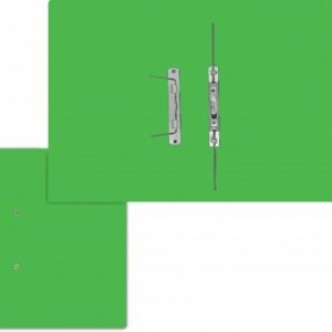 Treeline Accessible Files Gloss Electric Green Foolscap – Pack of 4