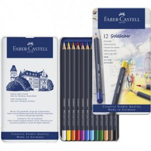 Faber Castell Goldfaber Colour Pencil – Tin Of 12