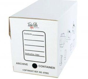 Tidy Files Folio Archive Container No Clip White