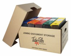 Tidy Files Lever Arch Jumbo Storage Box (Holds Lever Arch) – Kraft