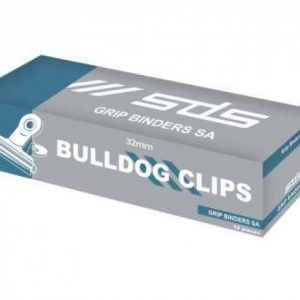SDS Bulldog Clips Silver 32mm – Box 12