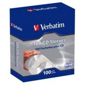 Verbatim White CD Paper Sleeves 100pk