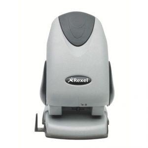 Rexel Premium P265 2-Hole Heavy Duty Punch – Silver/Black (65 Sheet)