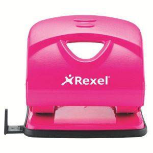 Rexel V230 Value 2-Hole Metal Punch – Pink (30 Sheet)