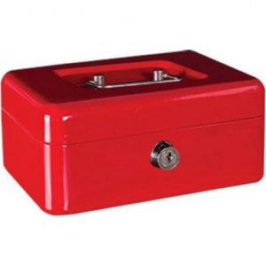 Cash Box Metal 6″ – Red