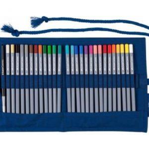 Faber Castell Goldfaber Aqua Watercolour Pencil – Pencil Roll – 30 Pieces