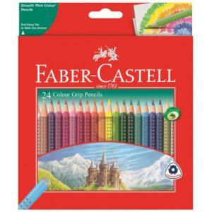 Faber Castell Grip Colour Pencils – 24s