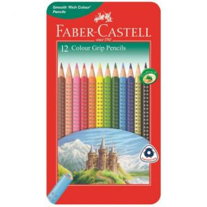 Faber Castell Grip Colour Pencils Tin Of 12