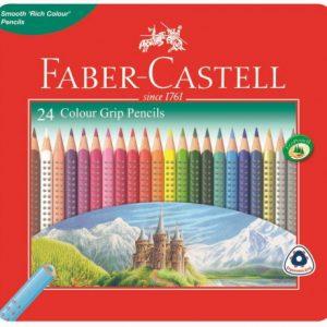 Faber Castell Grip Colour Pencils Tin Of 24