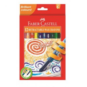 Faber Castell Twist Retractable Crayons 12s