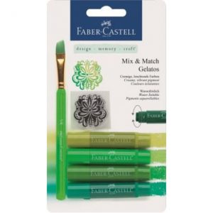 Faber Castell Gelatos Water Soluble Crayons – 4 Shades Of Green