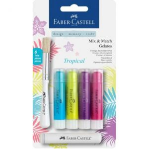Faber Castell Gelatos Water Soluble Crayons – 4 Shades Of Tropical