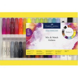 Faber Castell Gelatos Water-Soluble Crayons – Gift Set – 33 Pieces