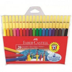 Faber Castell Fibre Pen Fine Point 45F – Wallet 20