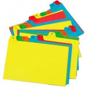 Bantex B6101 Manilla Board Card File Box (A5)(A-Z)