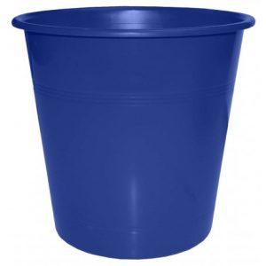 Bantex Round Paper Dustbin 10L – Blue