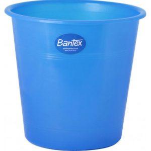 Bantex Round Paper Dustbin 10L – Translucent Blue