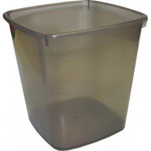 Bantex Waste Paper Bin Square 20L – Smokey