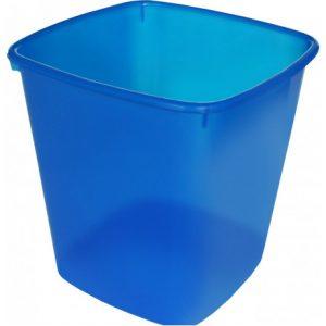 Bantex Waste Paper Bin Square 20L – Translucent Blue
