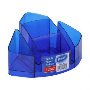 Bantex Desk Organiser – Clear Blue