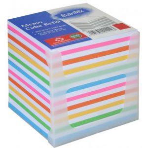 Bantex Memo Cube Refill – Rainbow