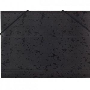 Bantex  Document Wallet 3-Flap Heavy Duty Board – Black