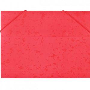 Bantex  Document Wallet 3-Flap Heavy Duty Board – Red