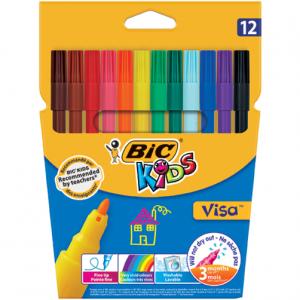 Bic Kids Visa Fibre Tip 12s
