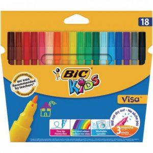 Bic Kids Visa Fibre Tip 18s