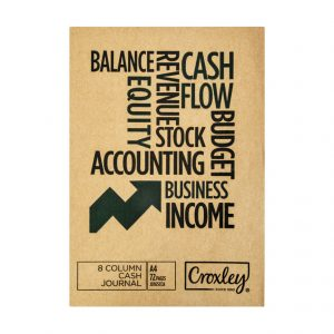 Croxley A4 Bookkeeping Practice Book JD165CA – 8 Cash Column Cash Journal (72 Page)