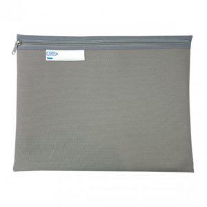 Bantex Book Bag Landscape With Zip – Grey