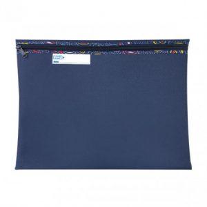Bantex Book Bag Landscape With Zip – Navy
