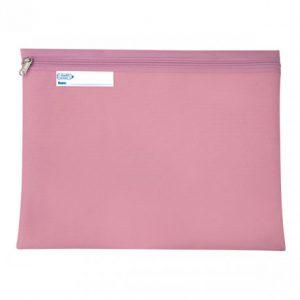 Bantex Book Bag Landscape With Zip – Pink