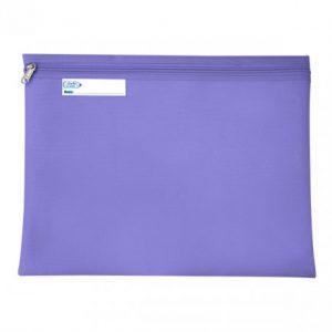 Bantex Book Bag Landscape With Zip – Purple