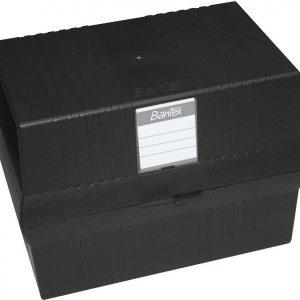 Bantex A5 Card File Box – Black