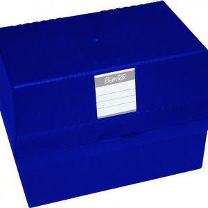 Bantex A5 Card File Box – Blue